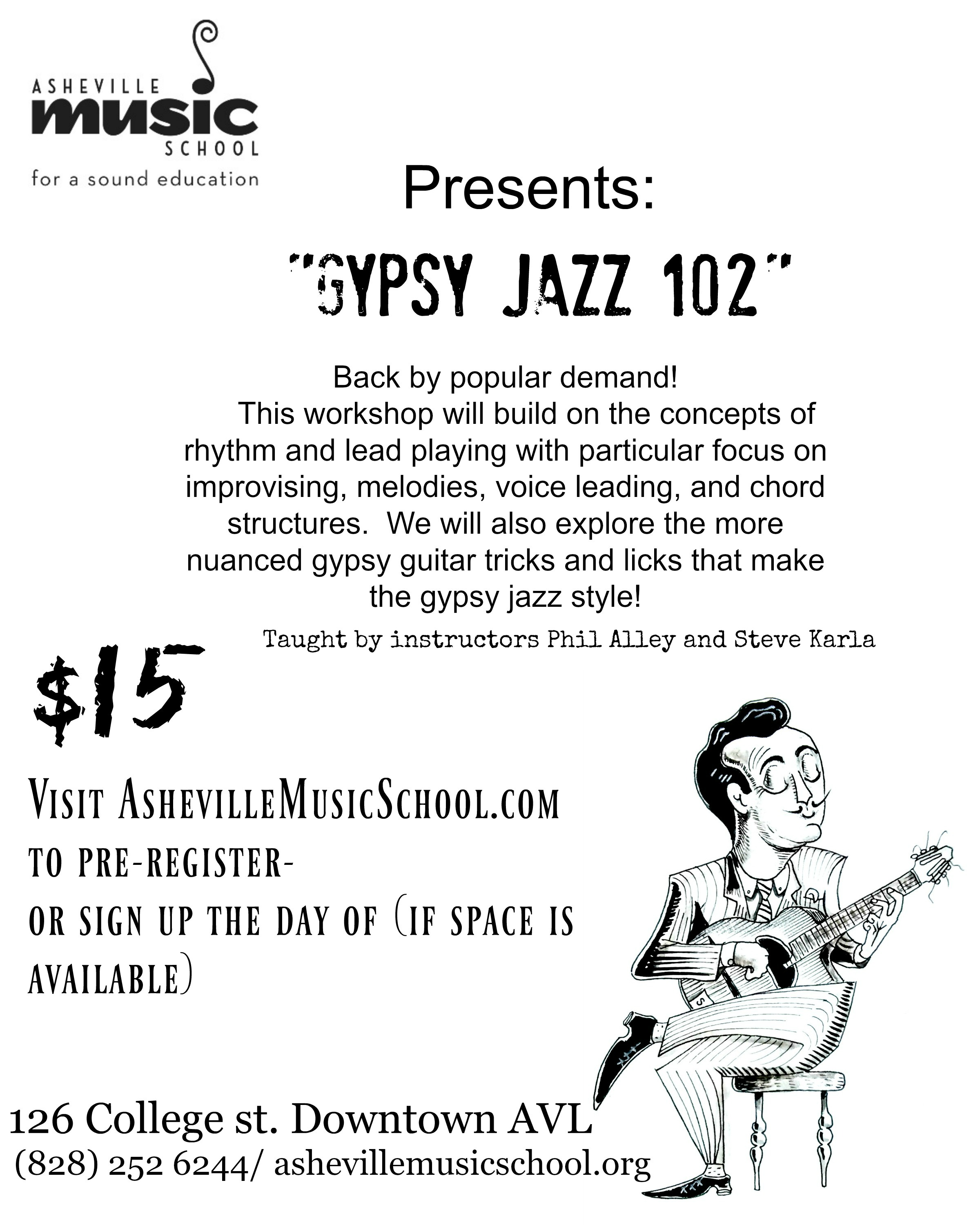 Gypsy Jazz 102 Workshop Asheville Downtown Association